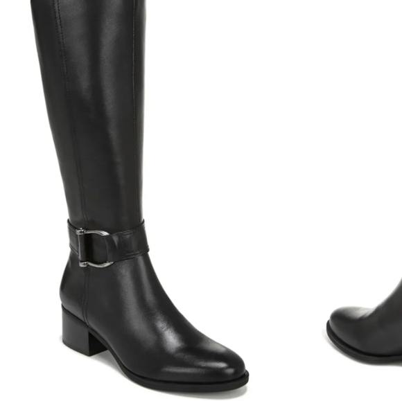 Daelynn Tall Leather Boots (Wide Calf)